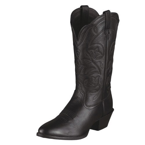WOMENS ARIAT HERITAGE BLACK COWGIRL BOOT Thumbnail