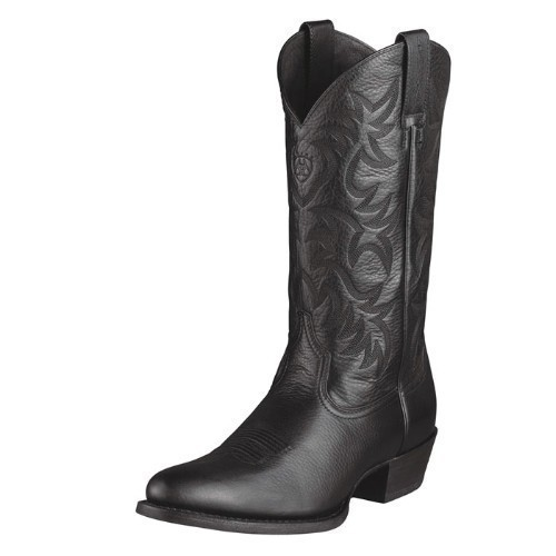 MENS ARIAT HERITAGE BLACK WESTERN COWBOY BOOT Thumbnail