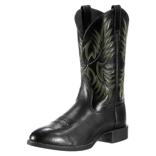 ARIAT HERITAGE STOCKMAN BLACK BOOT Thumbnail
