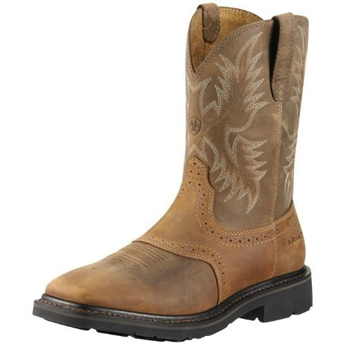 MENS SIERRA WIDE SQUARE/STEEL TOE PULLON BOOT Thumbnail