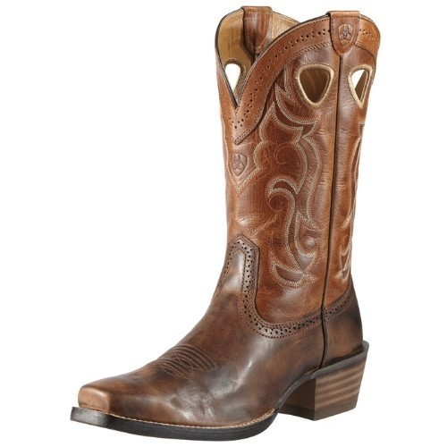 ARIAT RAWHIDE WEATHERED CHESTNUT COWBOY BOOT Thumbnail