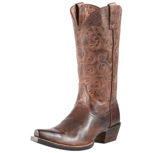 WOMENS ALABAMA SASSY BROWN COWBOY BOOT Thumbnail