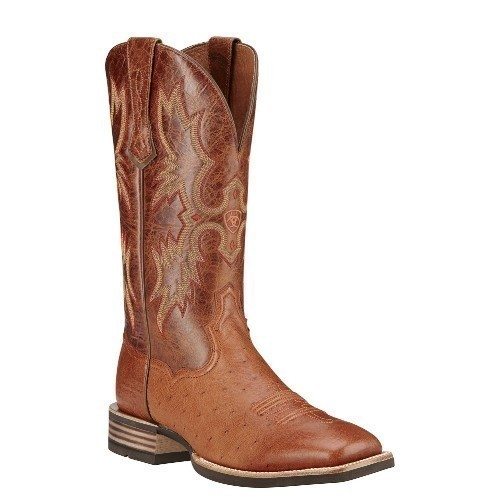 Ariat Tombstone Brandy Smooth Quill Ostrich Thumbnail