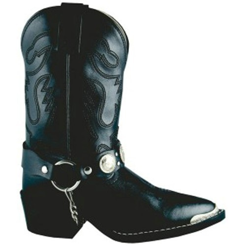 BLACK CONCHO WITH HARNESS WESTERN BOOT CHILD Thumbnail