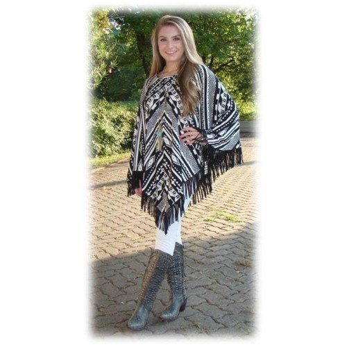 SONORA FRINGED PONCHO Thumbnail