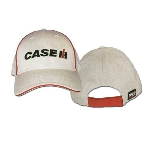 CASE IH EMBROIDERED KHAKI RED PIPING CAP Thumbnail