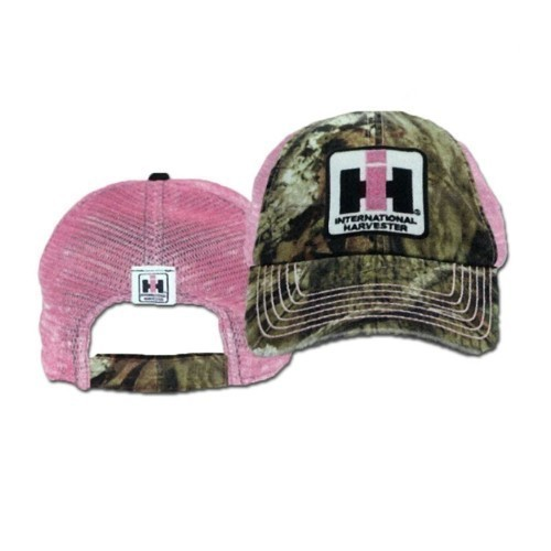 IH DISTRESSED MOSSY OAK/PINK MESH BACK CAP  Thumbnail