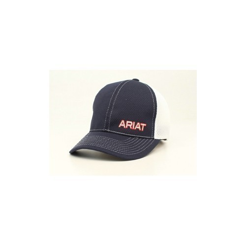 ARIAT NAVY  WHITE MESH SNAP BA Thumbnail