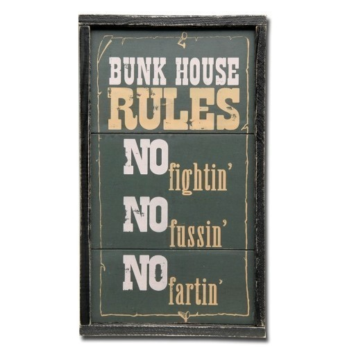 SIGN-BUNK HOUSE RULES Thumbnail