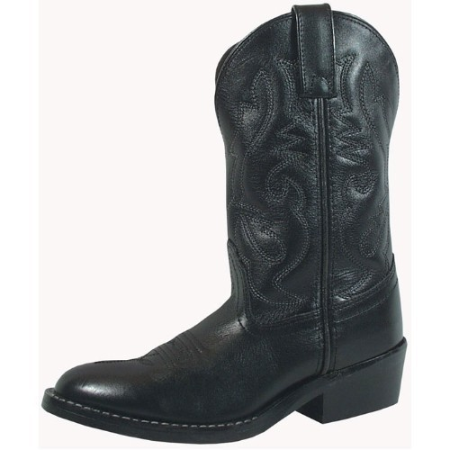 CHILD BLACK LEATHER WESTERN BOOT 8.5-3 Thumbnail