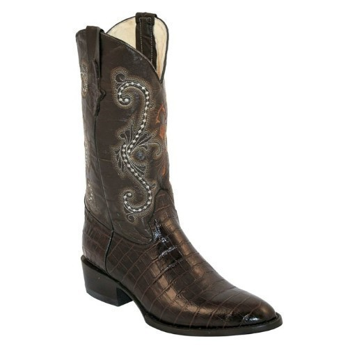 MENS PRINT GATOR BELLY CHOCOLATE R-TOE BOOT Thumbnail