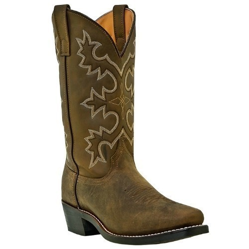 CHEYNNE TAN DISTRESSED SQUARE TOE COWBOY BOOT Thumbnail