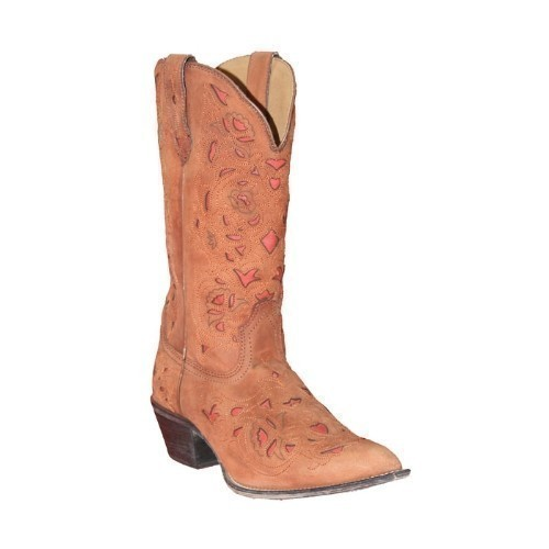 BROWN GOAT WITH RED INLAY WESTERN BOOT Thumbnail