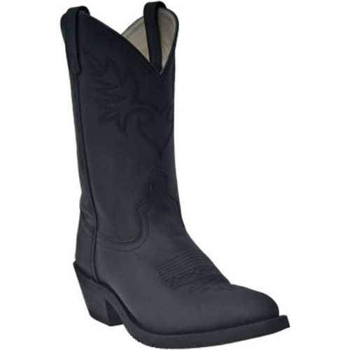 MESA  ALL OVER BLACK OILED WESTERN BOOT Thumbnail