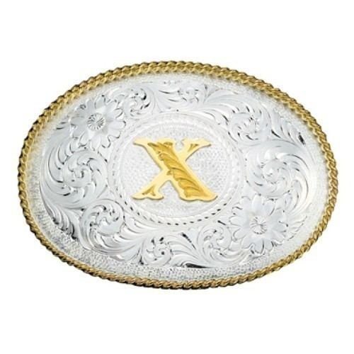 Montana Initial Oval Buckle With X Thumbnail