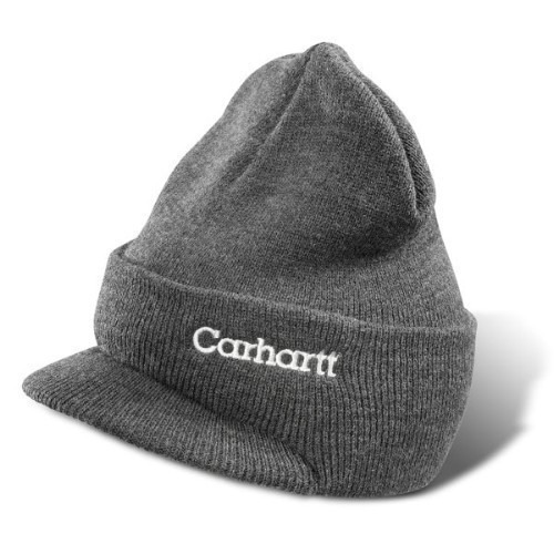 Carhartt Winter Knit Hat/Visor Coal Heather Thumbnail