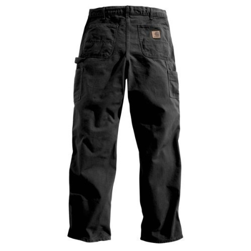Carhartt Washed Duck Work Dungaree Black Thumbnail