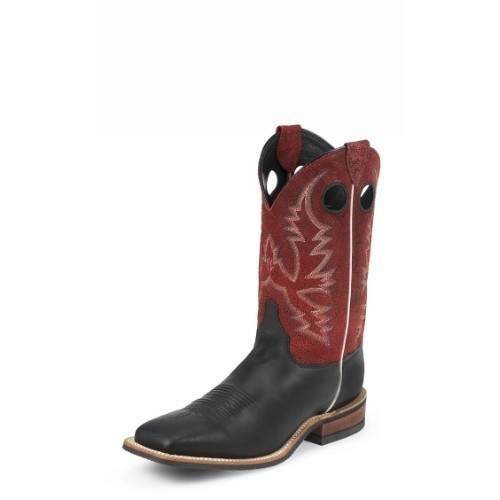 BENT RAIL BLACK/RED WESTERN COWBOY BOOT  Thumbnail