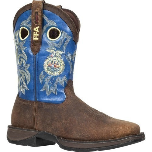 MENS FFA REBEL SQUARE TOE BROWN COWBOY BOOT Thumbnail