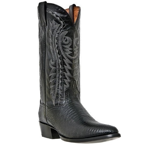 DAN POST TEJU LIZARD BLACK WESTERN BOOT Thumbnail