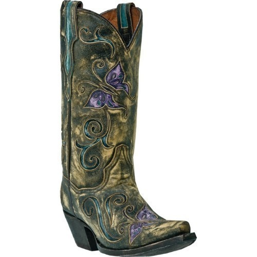 CAMBRIA TAN VINTAGE BUTTERFLY COWGIRL BOOT Thumbnail
