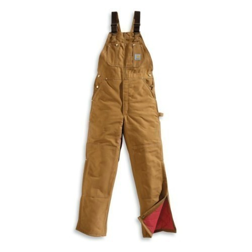 Carhartt Duck Bib Overall / Quilt Lined Brown Thumbnail