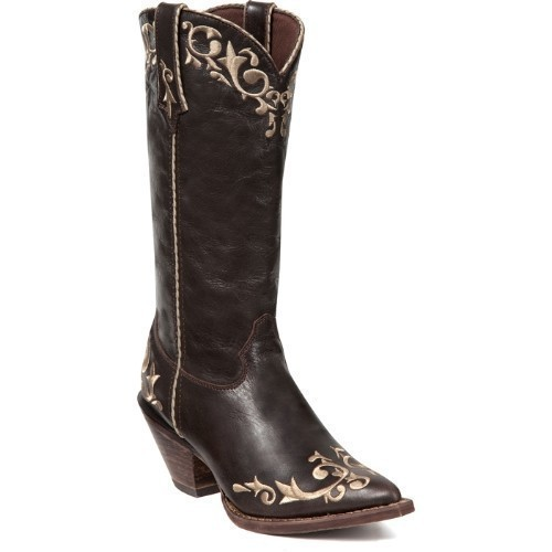 WOMENS CRUSH CHOCOLATE SCROLL WESTERN BOOT Thumbnail