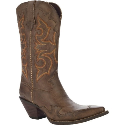 WOMENS CRUSH ROCK N SCROLL BROWN COWGIRL BOOT Thumbnail
