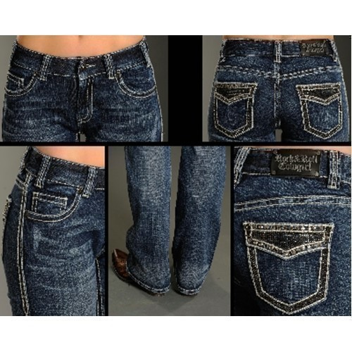 JUNIORS MID RISE BOOT CUT JEANS Thumbnail