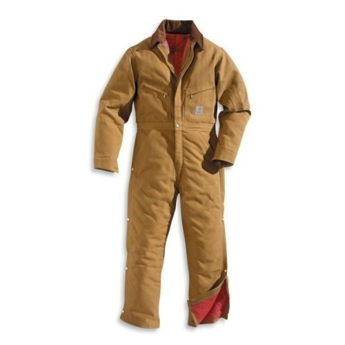 Carhartt Duck Coverall / Quilt Lined Brown Thumbnail