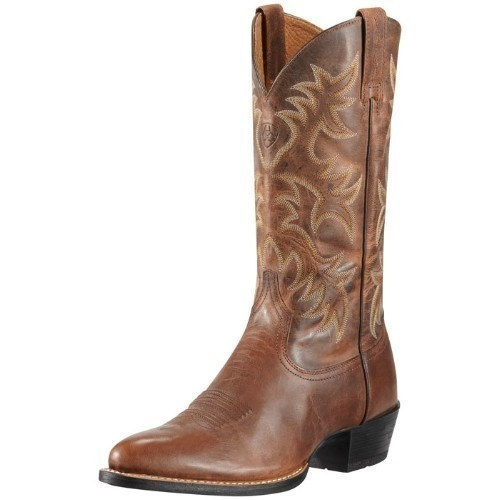 MENS HERITAGE CHESTNUT WESTERN COWBOY BOOT Thumbnail