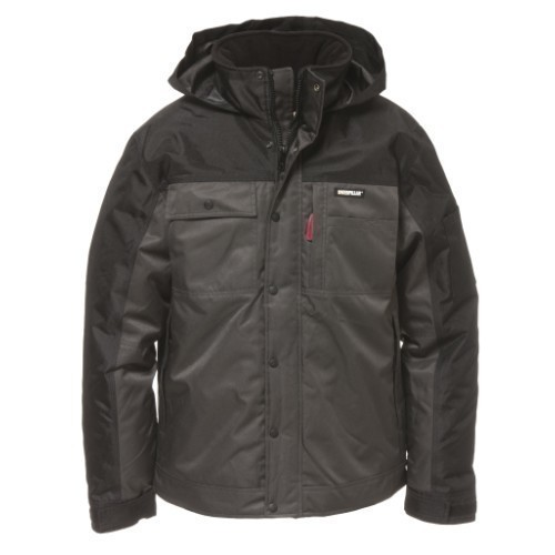 INSULATED TWILL JACKET GRA/BLK Thumbnail