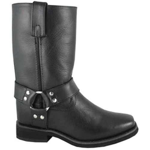 CHILD BLACK HARNESS BOOTS (8.5-3) Thumbnail