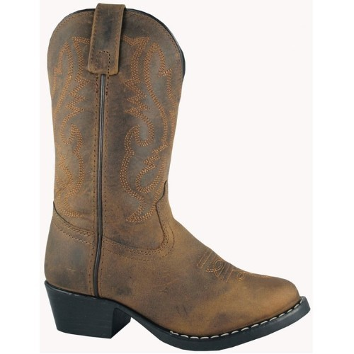 CHILD WESTERN BROWN COWBOY BOOT (8.5-3) Thumbnail