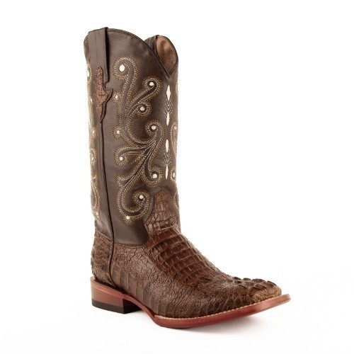 MENS CAIMAN PRINT SQUARE TOE WESTERN BOOT  Thumbnail