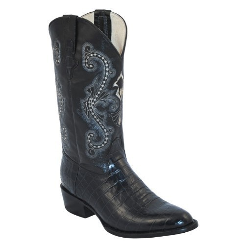 MENS PRINT BLACK GATOR BELLY R-TOE BOOT  Thumbnail
