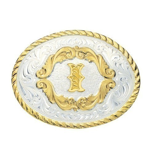 Montana Small Oval Initial Buckle letter I Thumbnail