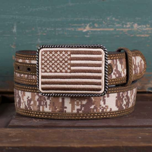 BOYS FLAG BUCKLE CAMO BELT Thumbnail