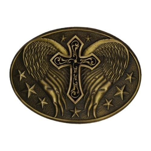 BKL- BRASS WINGED CROSS Thumbnail