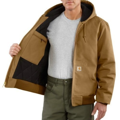 Carhartt Brown Duck Active Jac Flannel Big Thumbnail