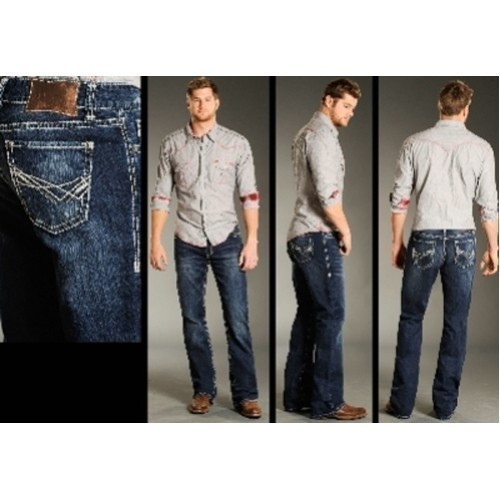 MENS RELAX FIT BOOT CUT JEANS Thumbnail