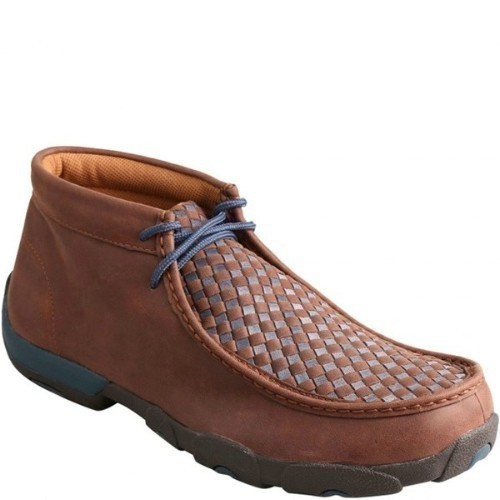 MENS DRIVING MOCS BLUE CHECK Thumbnail