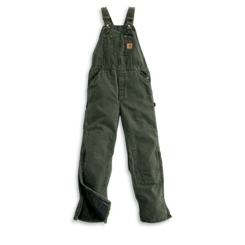 Carhartt Sandstone Bib Overall Quilted Moss Thumbnail
