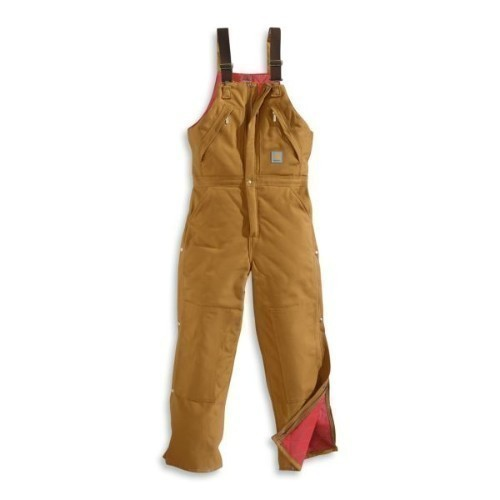 Carhartt Zip-to-Waist Biberall/ Quilted Brown Thumbnail