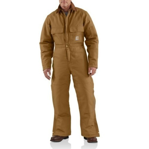 Carhartt Duck Coverall Arctic Quilted Brown Thumbnail